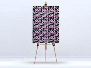 la Magie dans l'Image - toile puzzle parme - Impression Numérique Sur Toile