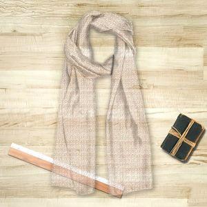 la Magie dans l'Image - foulard anis blanc beige - Foulard Carré