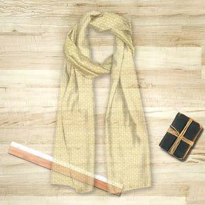 la Magie dans l'Image - foulard trèfle jaune blanc - Foulard Carré
