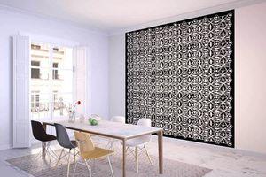 la Magie dans l'Image - grande fresque murale anis noir blanc - Papier Peint Panoramique