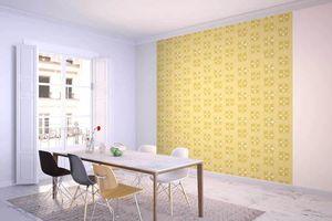la Magie dans l'Image - grande fresque murale lotus jaune foncé - Papier Peint Panoramique