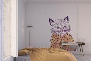 la Magie dans l'Image - grande fresque murale mon petit chat - Papier Peint Panoramique