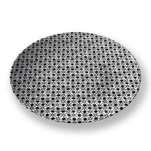 la Magie dans l'Image - assiette trfle blanc noir - Assiette De Présentation