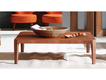 WHITE LABEL - table basse rectangulaire hawai - bois naturel - Table Basse Rectangulaire