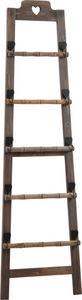 Aubry-Gaspard - echelle porte-serviettes en bois teinté - Echelle Décorative