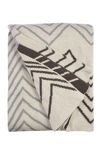FABHABITAT - plaid coton fenway gris - Plaid