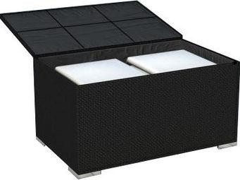 Delorm design - coffre de jardin résine tressée noire - Coffre De Jardin