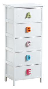 AUBRY GASPARD - commode alphabet 5 tiroirs - Commode Enfant