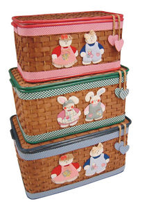Aubry-Gaspard - coffre à jouets en bambou marron (lot de 3) - Coffre À Jouets