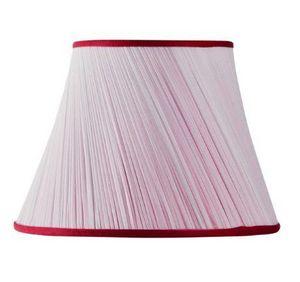 MON ABAT JOUR - plissé biais mousseline-- - Abat Jour Conique