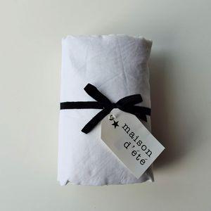 MAISON D'ETE - drap housse lin lavé blanc - Drap Housse