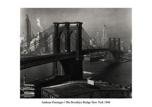 Nouvelles Images - affiche le pont de brooklyn vu de brooklyn new yor - Affiche
