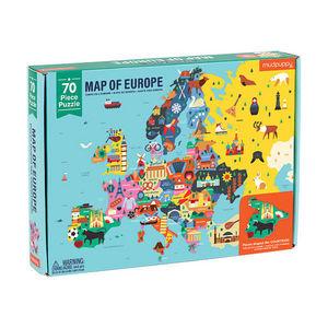 BERTOY - 70 pc geography puzzle europe - Puzzle Enfant