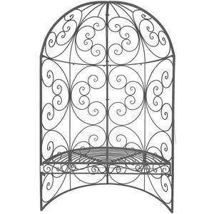 CHEMIN DE CAMPAGNE - banc arche demi-lune de jardin en fer 185 cm - Banc De Jardin