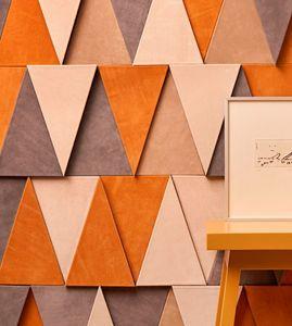 CUIR AU CARRE -  - Revêtement Mural