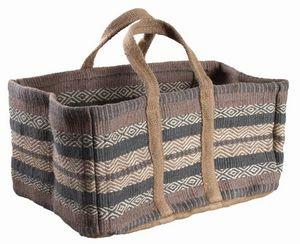 Aubry-Gaspard - sac à bûches en toile de jute épaisse pampa - Sac À Buches