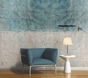 IN CREATION - béton bleu - Papier Peint Panoramique