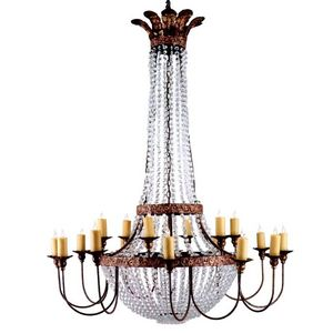 ALAN MIZRAHI LIGHTING - sl1307 iron and crystal - Chandelier