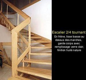 Hurpeau Mousist -   - Escalier Deux Quarts Tournant