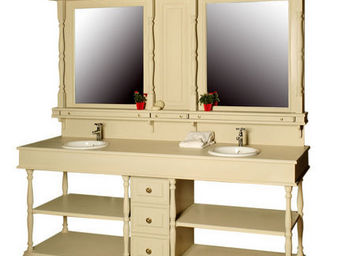 Luc Perron Creation - meuble salle de bain 2 vasques victorien - Meuble De Salle De Bains