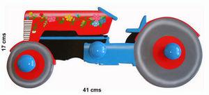 L'AGAPE - tracteur fleuri - Patère Enfant