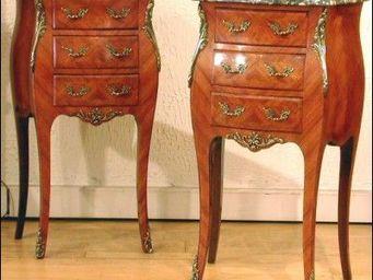 ANTIQUE GERMAIN - tables de chevet louis xv  - Table De Chevet