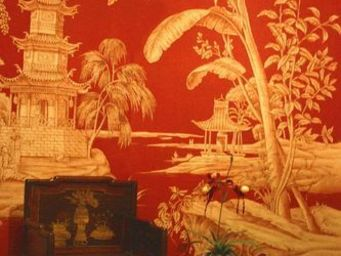 Iksel - exotic chinoiserie - Papier Peint Panoramique