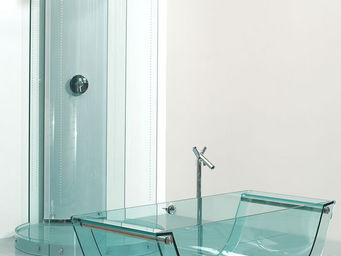 Prizma - tulip glass tub - Baignoire Ilot