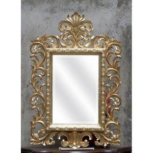 DECO PRIVE - miroir baroque modele beauty bois dore - Miroir