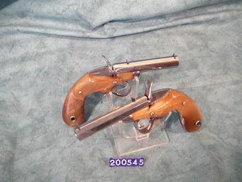 LE HUssARD - paire de pistolets de poche flobert - Pistolet Et Révolver