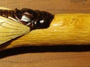 Artibois Sculpture Sur Bois - cigale - Couteau Pliant