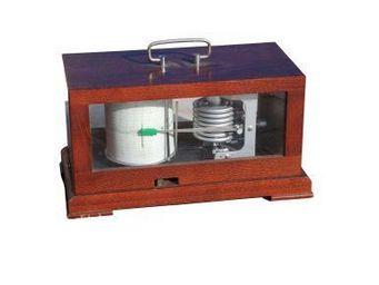 Antiqmarine - barographe dans sa boite en bois - Barographe
