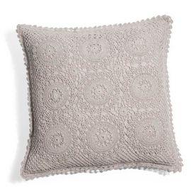 Housse de coussin crochet gris housse de coussin - Maison du monde housse de coussin ...