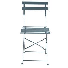 lot de 2 chaises grises guinguette chaise de jardin maisons du. Black Bedroom Furniture Sets. Home Design Ideas