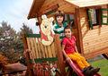 Maison de jardin enfant-AXI-Maisonnette winnie l'ourson sur pilotis en cèdre