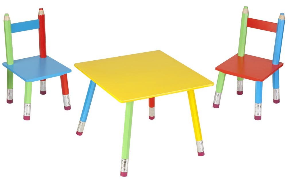 salon pour enfant crayons table de jeux pour enfant la chaise. Black Bedroom Furniture Sets. Home Design Ideas