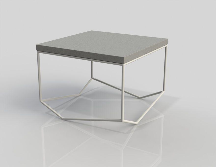table b ton la bancale carr e table basse carr e malherbe. Black Bedroom Furniture Sets. Home Design Ideas