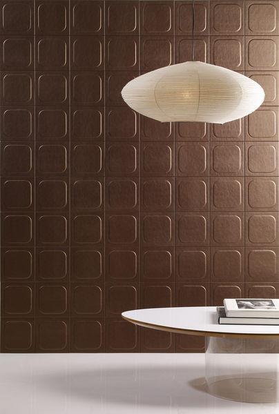 pop carreau de cuir brun cuir cuir au carre decofinder. Black Bedroom Furniture Sets. Home Design Ideas