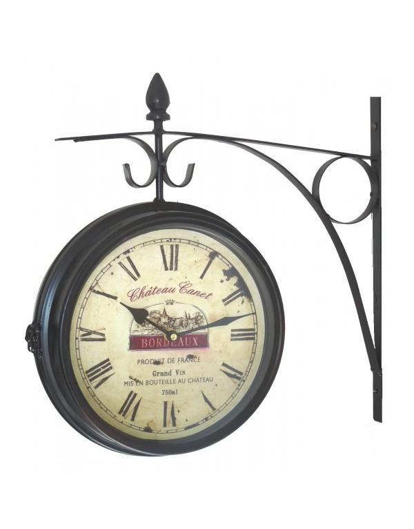 pendule de gare brocante 28cm horloge murale. Black Bedroom Furniture Sets. Home Design Ideas