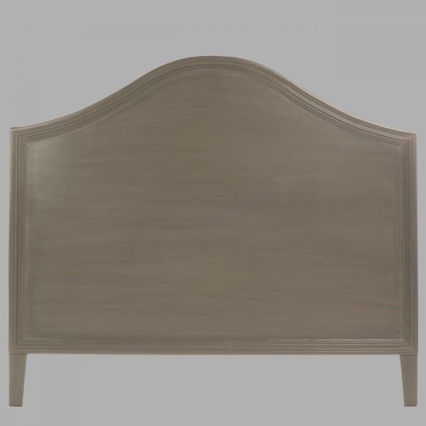 edith gris fonc t te de lit blanc d 39 ivoire decofinder. Black Bedroom Furniture Sets. Home Design Ideas