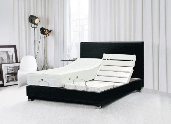 trecaflex sommier de relaxation lectrique noir. Black Bedroom Furniture Sets. Home Design Ideas