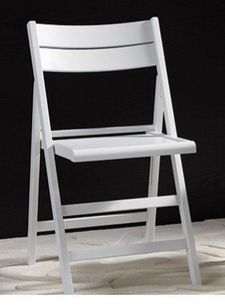 lot de 2 chaises pliante robert blanche chaise pliante blanc. Black Bedroom Furniture Sets. Home Design Ideas