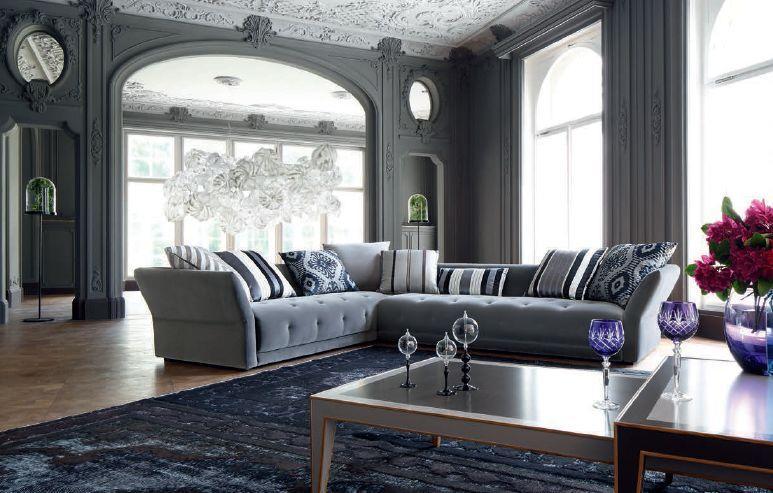 diese - canapé d'angle - gris - roche bobois | decofinder