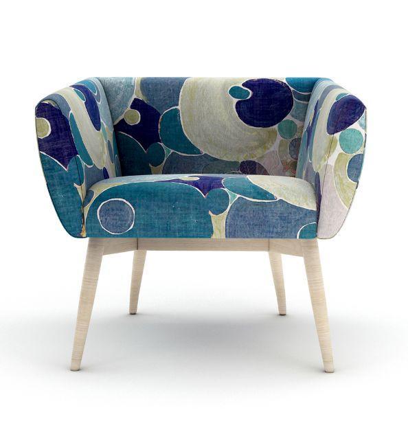 tissu d 39 ameublement pour si ge bleu lalie design decofinder. Black Bedroom Furniture Sets. Home Design Ideas
