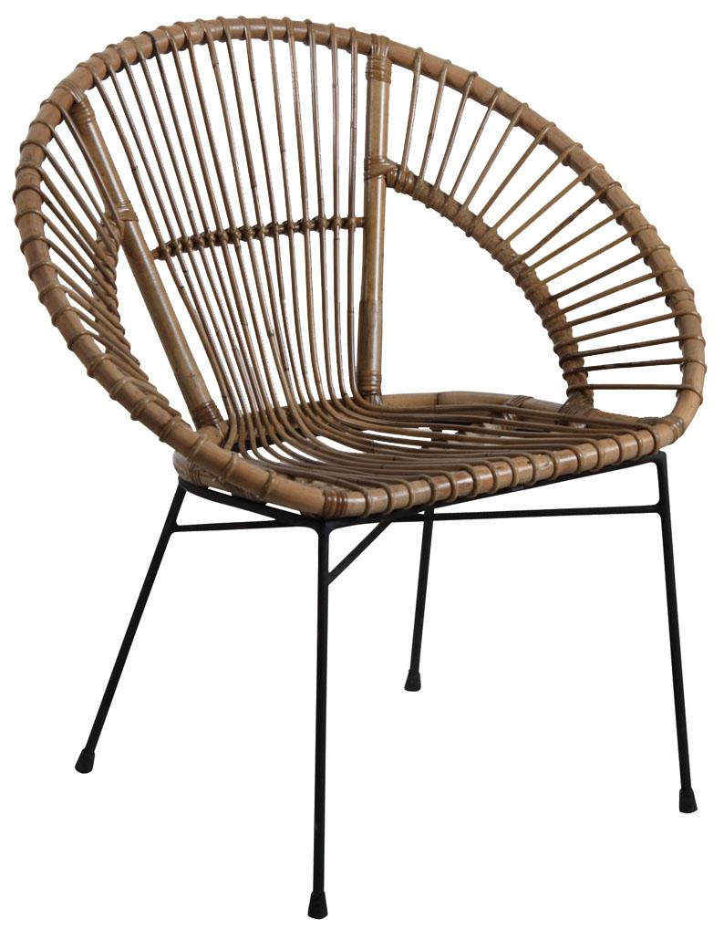 fauteuil en rotin gris et m tal fauteuil aubry gaspard. Black Bedroom Furniture Sets. Home Design Ideas