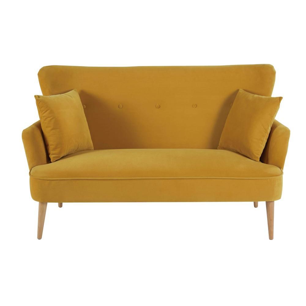 leo canap 2 places maisons du monde decofinder. Black Bedroom Furniture Sets. Home Design Ideas