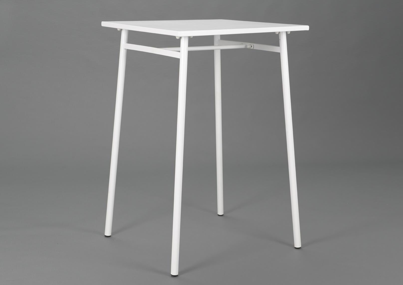table de bar blanc epoxy mange debout blanc acier amadeus. Black Bedroom Furniture Sets. Home Design Ideas