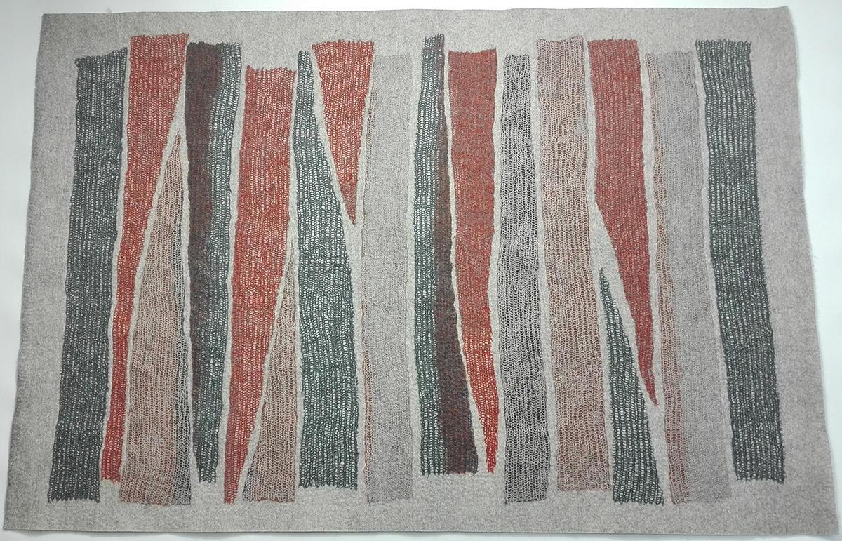 tapis maille feutre tapis contemporain ghislaine garcin. Black Bedroom Furniture Sets. Home Design Ideas