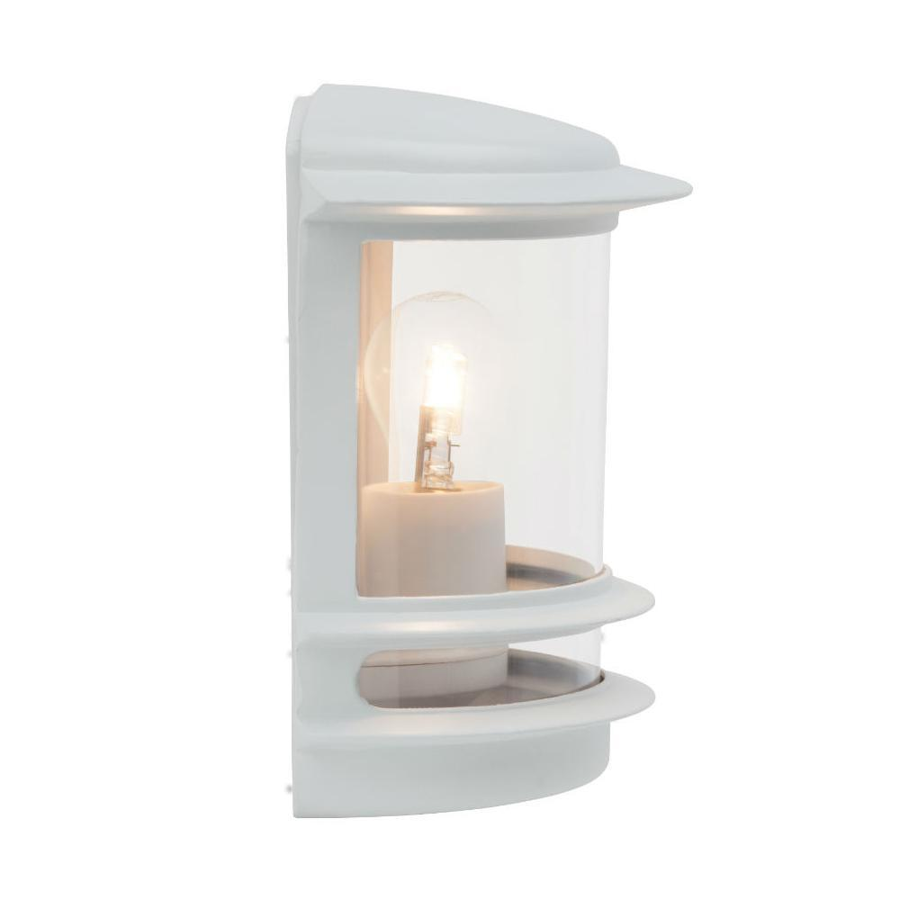 hollywood applique d 39 ext rieur blanc m tal h 25cm l 23. Black Bedroom Furniture Sets. Home Design Ideas