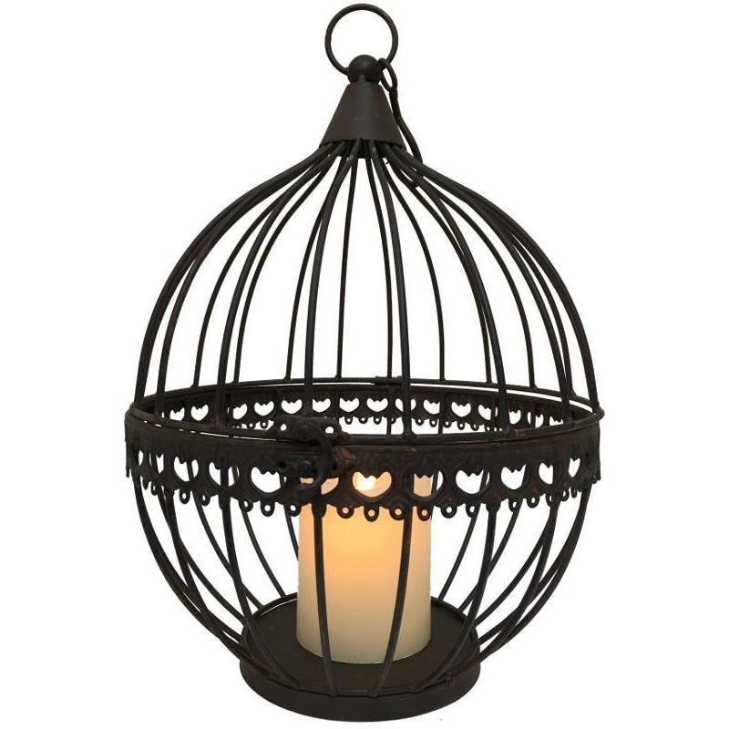 boule cage porte bougie porte plante suspendre 2 lanterne d 39 ext rieur fer chemin de campagne. Black Bedroom Furniture Sets. Home Design Ideas